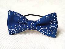 Ozdoby do vlasov - Blue folklore hair bow - 8649107_