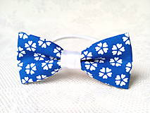 Ozdoby do vlasov - Romantic hair bow (blue/white flowers) - 8649182_