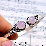 - Ancient Rose Quartz Bracelet / Starostrieborný náramok v antickom štýle s ruženínom /0477 - 8648278_