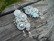 Náušnice - Soutache náušnice Silver Spiral Elegance - 8650630_