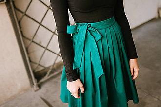 Sukne - Zelená zavinovací sukně - 8648018_
