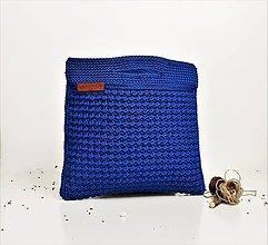 Kabelky - Kabelka / taška veľká kráľovská modrá - 8649603_
