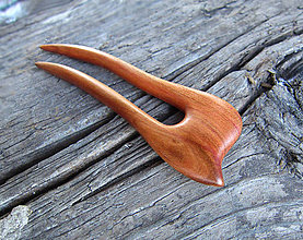 Ozdoby do vlasov - Drevená ihlica do vlasov - 8648441_