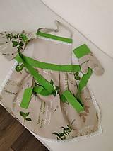 Iné oblečenie - Zástera s chňapkou a predkami - zelená - 8648929_
