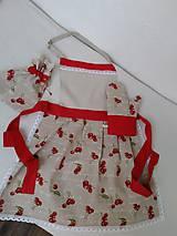 Iné oblečenie - Zástera s chňapkou a predkami - červená \\ čerešňa - 8649091_