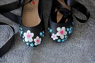 Obuv - balerínky - čerešňový kvet - 8651594_