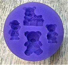 Pomôcky/Nástroje - Silikónová forma - medvedíkovia 4ks - 8648427_