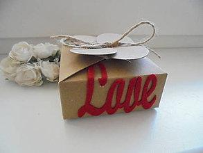 Krabičky - Darčeková krabička na šperky - love - 8647783_
