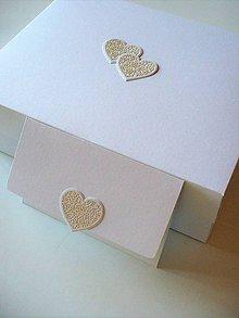 Krabičky - svadobná sada (krabica + obálka) - 8649456_