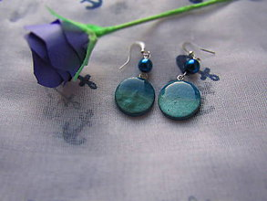 Náušnice - Náušnice modré zore - 8651696_