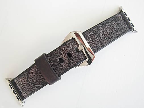 25602120d Čierny kožený remienok pre Apple hodinky / leon - SAShE.sk ...