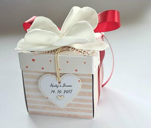 c83bd6d41 Svadobný exploding box / Papieriky - SAShE.sk - Handmade Papiernictvo