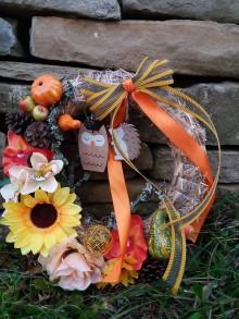 Dekorácie - Jesenný veniec na dvere - Sunflower - 8649053_