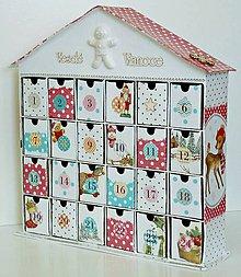 Krabičky - V perníkovom domčeku adventný kalendár - 8649848_