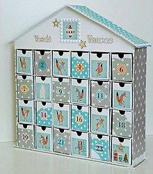 Krabičky - Lišiak Hugo adventný kalendár - 8649853_