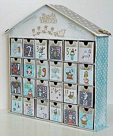 Dekorácie - Pastelkové Vianoce adventný kalendár - 8649872_