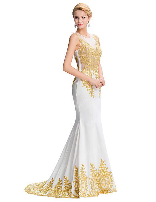 594cf6065c85 Biele spoločenské šaty