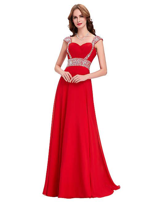 Červené spoločenské šaty fa1edc433c
