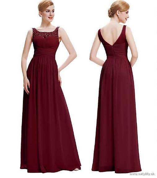 b73003c5fed2 Bordové spoločenské šaty