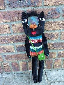 Bábiky - Čierna cica - 8650870_