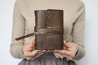 Papiernictvo - Ručne viazaný kožený zápisník Abrahám / čisté strany - 8650789_