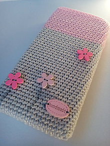 Na mobil - Háčkovaný obal na mobil - 8650931_