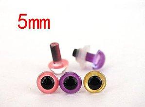 Galantéria - Bezpečnostné očká 5mm (balíček 10ks) - 8650874_