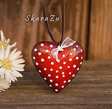 Náhrdelníky - Little Heart dots / 3D - 8651653_