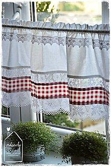 Úžitkový textil - Krátka vitrážová záclonka - 8648524_