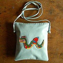 Iné tašky - Mořský drak - kožená crossbody taška - 8648593_
