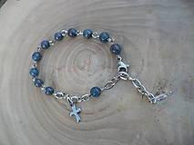- ruženec na ruku z Jaspisu modrého-chirurgická oceľ - 8648487_