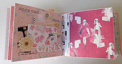 Papiernictvo - La femme - unikátne, ručne vyrobené moderné, scrapbookovy album na narodeniny - 8653394_