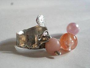 Prstene - Zakvitnutý ružový andský opál- tiffany - 8655673_