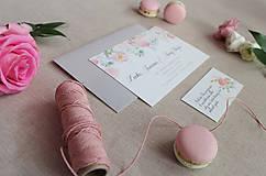 Papiernictvo - Svadobné oznámenie Pink Flowers - 8653312_