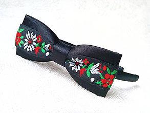 Ozdoby do vlasov - Sweet folklore headband (black) - 8652890_
