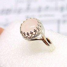 Prstene - Vintage Natural Rose Quartz Ring Silver Ag 925 / Strieborný prsteň s ruženínom /0475 - 8652172_