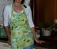 Iné oblečenie - Zásterka Vinatage na zelenej digi - 8655360_