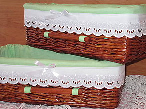 Košíky - Košíky - Slivkové v zelenej košieľke - 8653010_