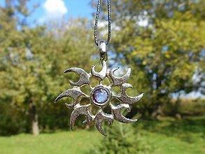 Náhrdelníky - magic sun with blue moonstone.. - 8653351_