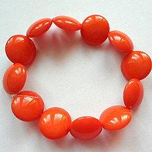 Korálky - Skl.vosk.lentilky 14mm-orange-12ks - 8655768_