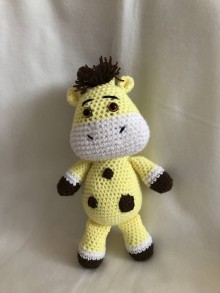 Hračky - Háčkovaná Žirafka - 8618794_