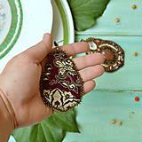 Náušnice - Jaspisové - vyšívané náušnice - 8653383_