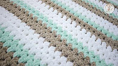 Textil - Háčkovaná detská deka - 8653599_