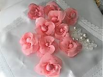 Drobnosti - Kvety z mušelínu - 8654096_