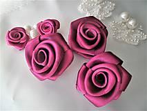 Iné doplnky - Saténové ružičky priemer 5cm - 8654654_