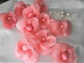 Drobnosti - Kvety z mušelínu - 8654099_