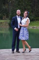 Sukne - slávnostná sukňa Modrý ornament - 8653454_