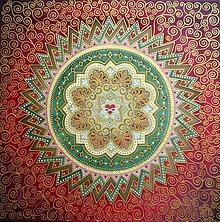 Obrazy - Mandala večnej lásky a vášne - 8653472_