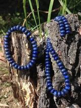 Lapis lazuli - sada šperkov v striebre