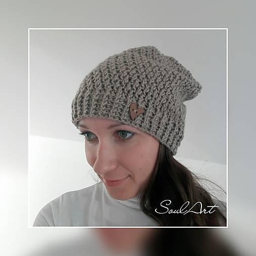 Háčkovaná čiapka homeleska pre ženu SKLADOM